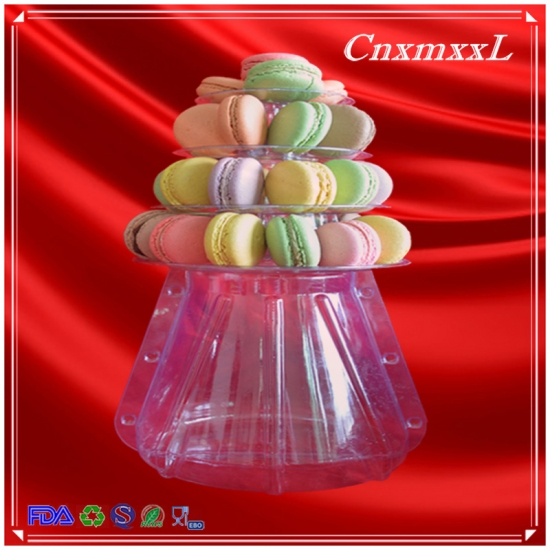 4 tiers macarons packaging