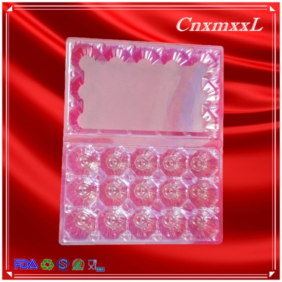15 pcs clear egg tray